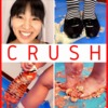 [Crush Fetish # 17] [4K] Miwa-chan's Food Crash Black Low Heel Pumps / Border Socks / Barefoot