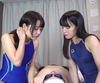 ⑤ W Slut Special! Miyazawa Chiharu-chan, Mai Yahiro-chan's perverted man drastically drastically mass saliva!