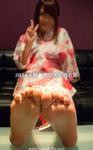 2014年夏季,Manami的浴衣脚