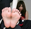 Feet soles tickling pictures of Sakura plain-clothes + stockings to go one foot + students
