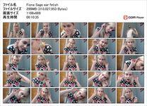 【耳フェチ動画】フ○○ダ在住フィオーナの大きな耳を堪能